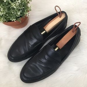 Tod's Black Penny Loafers
